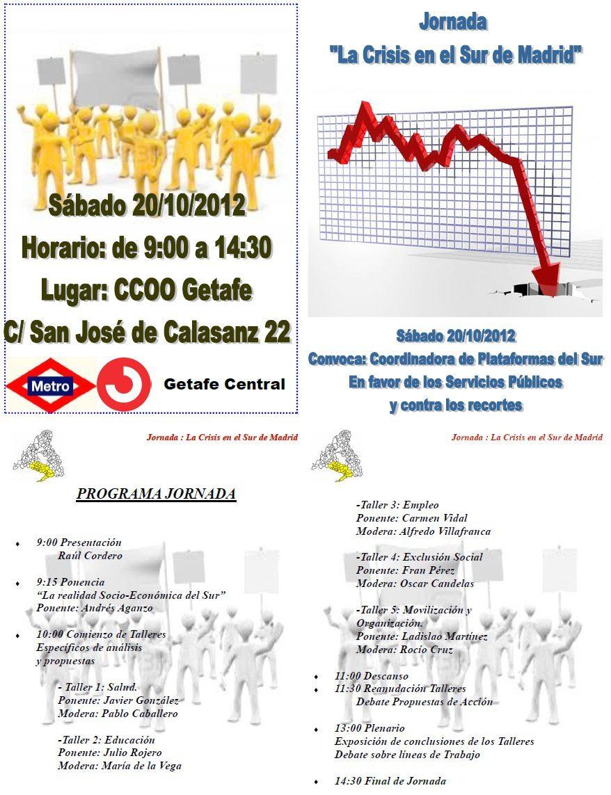 "Jornada ""La Crisis del Sur de Madrid"""