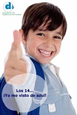 El 14 de Octubre • Vístete de azul • Actuemos sobre la Diabetes ¡Ya!