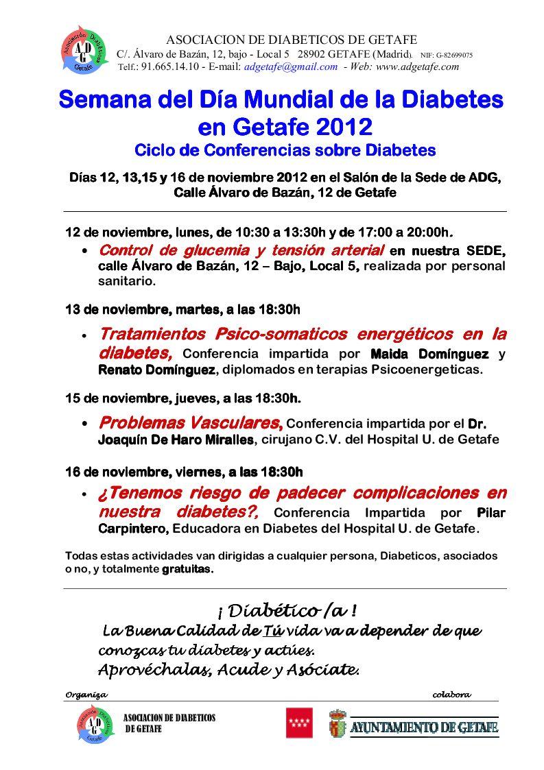 Semana del Día Mundial de la Diabetes en Getafe 2012