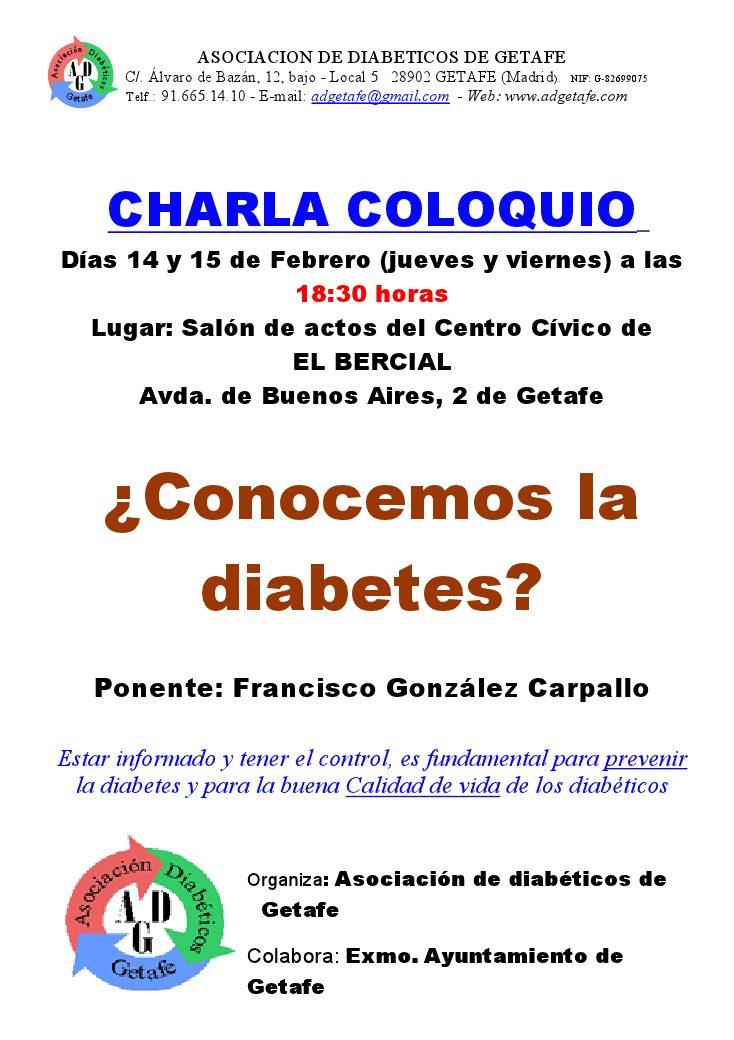 Charla coloquio ¿Conocemos la diabetes?