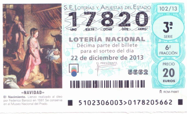 Loteria navidad 2013