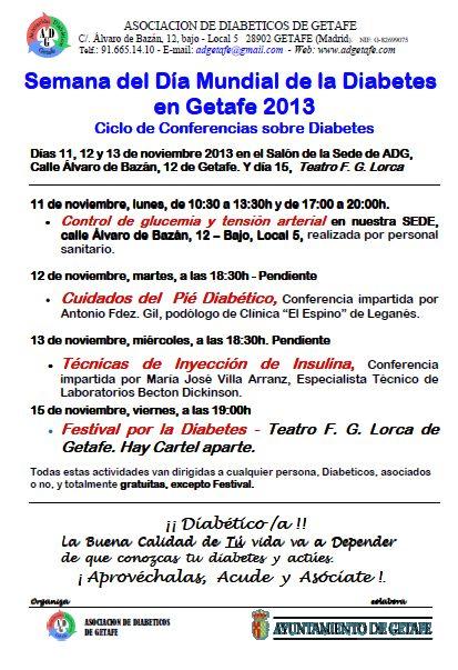 """SEMANA """"DÍA MUNDIAL DE LA DIABETES 2013″"""