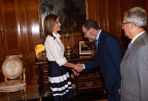 La Reina Letizia recibió en Zarzuela a la Federación de Diabéticos Españoles