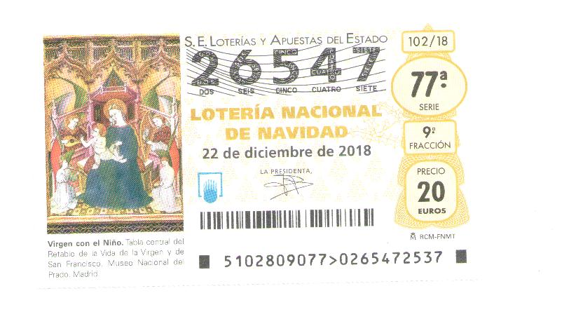 Lotería de Navidad 2018